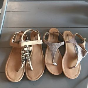 CALL IT SPRING Thong Sandal Lot Beige Size 9